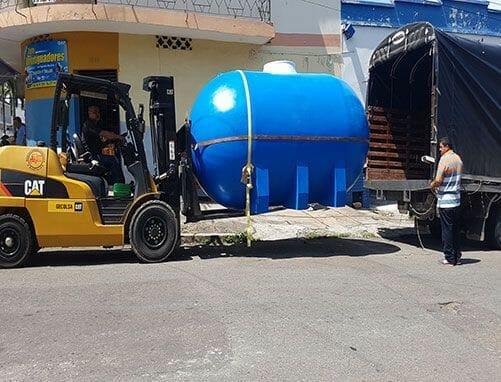Tanques de almacenamiento de agua potable horizontal