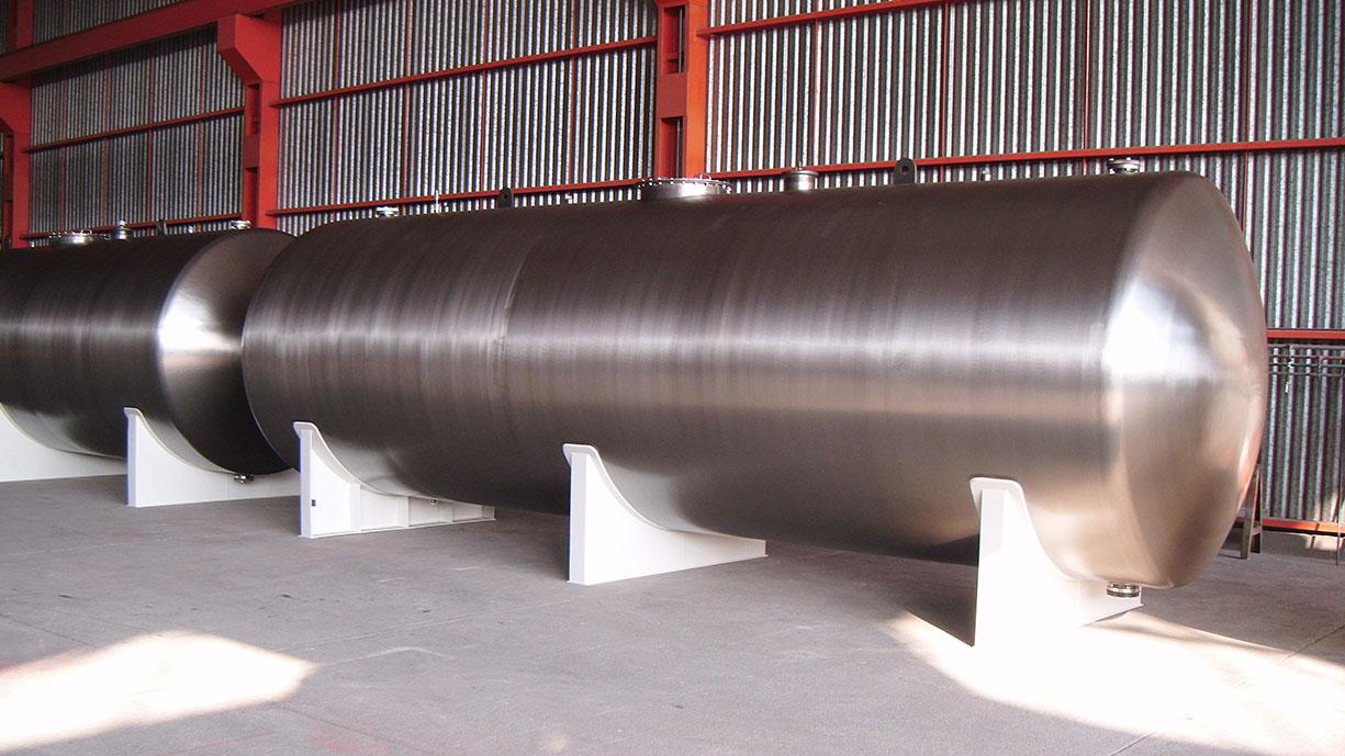 Tanques de almacenamiento horizontales para industria alimentaria